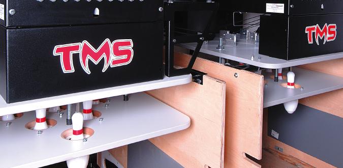 Lankový stavěč kuželek TMS