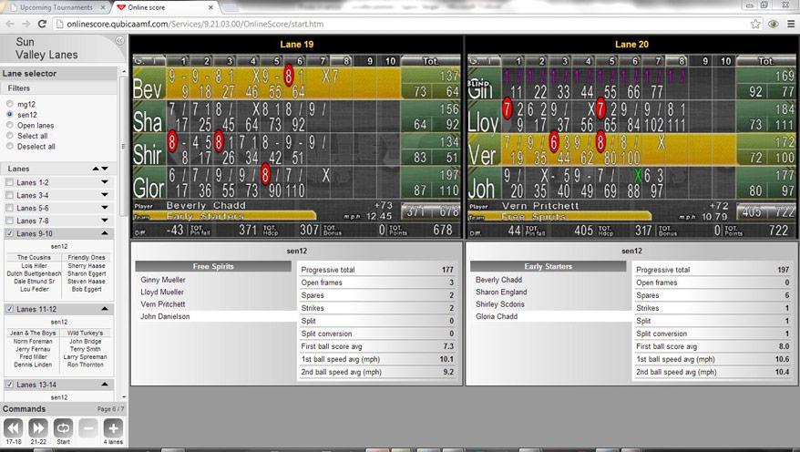 on-line skoring BES X ze ovládáním Conqueror PRO.