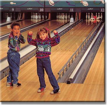 dětská párty na bowlingu