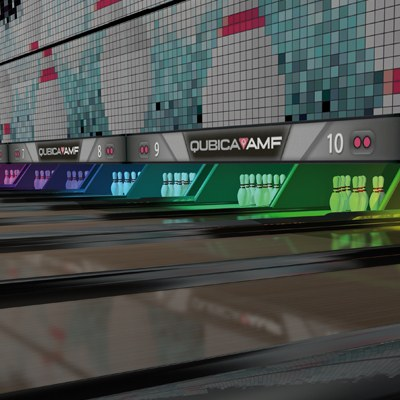 Inteligentní LED osvětlení pro bowling.